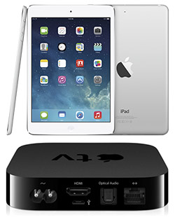 Apple's iPad mini and Apple TV