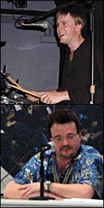 Photo of Dave Hamilton (top) and John F. Braun (bottom)