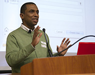 PMUG President Khürt Williams speaking on Mac OS X Security at the December 2012 meeting