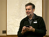 <b>Doug Dixon</b> at the November 2013 PMUG meeting &mdash; Photo by Michael Blank